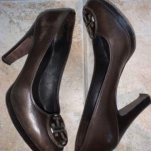 Dark Brown Tory Burch Heels